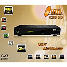 Iris 9200 - Receptor de TV por satélite (WiFi, HDMI, DVB-S2 Full HD) color negro