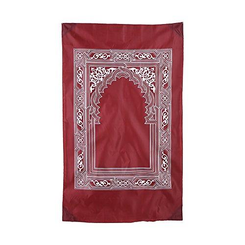 Islamische Gebetsteppich, Gebet Mat muslimischen befestigt Compass Gebetsteppich, muslimische Sajadah Namaz Janamaz Gebet Teppich - Islam-teppich