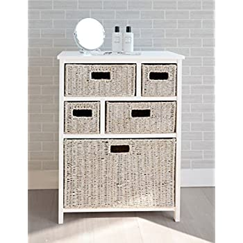 bathroom storage baskets white tetbury white storage unit with 5 whitewash basket drawers 16674