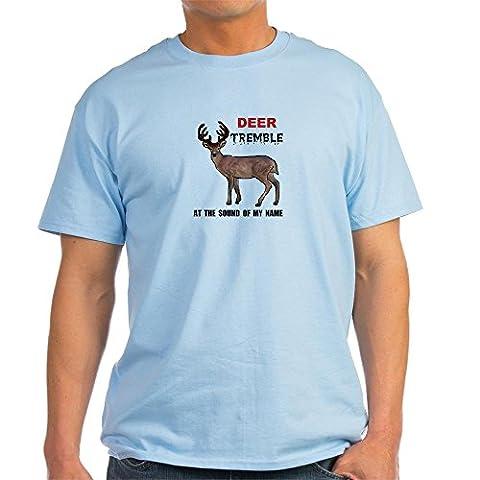 CafePress - DEER TREMBLE Light T-Shirt - 100% Cotton T-Shirt