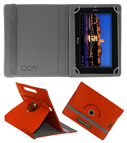 Acm Rotating 360° Leather Flip Case for Bsnl Champion W-Tab 705 Cover Stand Orange  available at amazon for Rs.149