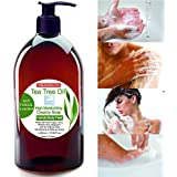 Jabón Ultra Hidratante Terapéutico con Aceite de Árbol de Té Purificante Anti hongos Anti Acné 500 ml - Cara Manos Cuerpo Pies Uñas - Gel de Ducha