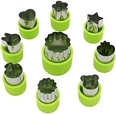 KACOOL PP Plastic Vegetable Fruit Cookie Cutter Shapes - Set of 9