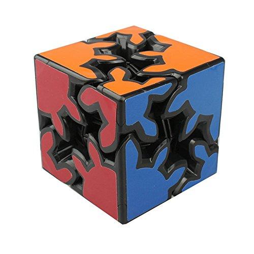 HJXDtech - KSZ clásico cubo de 2x2x2 de engranajes la velocidad pegatina cubo mágico irregulares (negro)