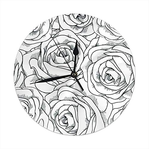 Pages-Relaxing-Coloring-Pages-Images-Anti-Stress-Relaxation-Printable-Free-Mandala-Colouring-For-Adults-Page-Printable-Relaxation-Coloring-Pages Round Wall Clock For Home,Office,Sc ()