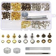 10 St/ücke 10mm Metall Spike Nieten Kegel Spikes Metallic Bolzen Schraube Zur/ück DIY Leder Handwerk Dekoration f/ür G/ürtel Schuhe Handtasche Blau