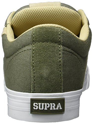 Supra - Stacks Vulc Ii, Pantofole Uomo Grün (Olive-White)