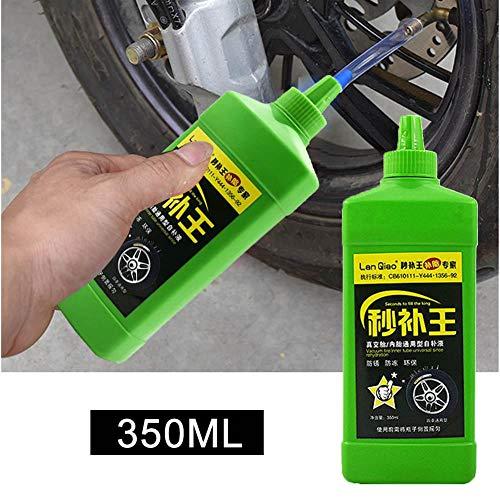 350 ML Vakuum Reifenreparaturkleber Reifenflüssigkeit Auto TireSelf-Rehydration Motorradreifen Mountainbike Reifendichtmittel Maschinenschutz Pannendichtmittel Bike Automatic Tire Sealer Repair Fluid (Kraut Vakuum)