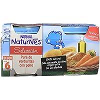 NESTLÉ SELECCIÓN puré de verduras y carne, variedad puré de Verduritas con Pollo, para bebés a partir de 6 meses - Paquete de 5 x 2 tarritos de 200 g