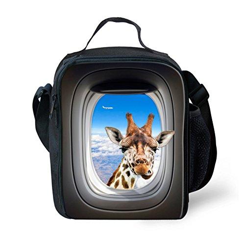 Showudesigns carino stampa animale borsa porta pranzo per bambini con tracolla, color 7, small color 3