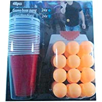 Ardisle 36pc Beer Pong Drinking Game Set Coppe Sfere del partito Kit Bar regalo.