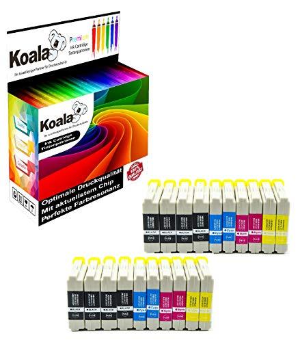 Mfc-3360c Farbe (Koala 20 Druckerpatronen kompatibel für Brother LC970 LC1000 für Brother DCP - 130C 135C 150C 155C 330C 350C 540CN 560CN 750CW 770CW MFC - 230C 235C 440CN 465CN 660CN 665CW345CW 885CW 8*BK 4*C 4*M 4*Y)