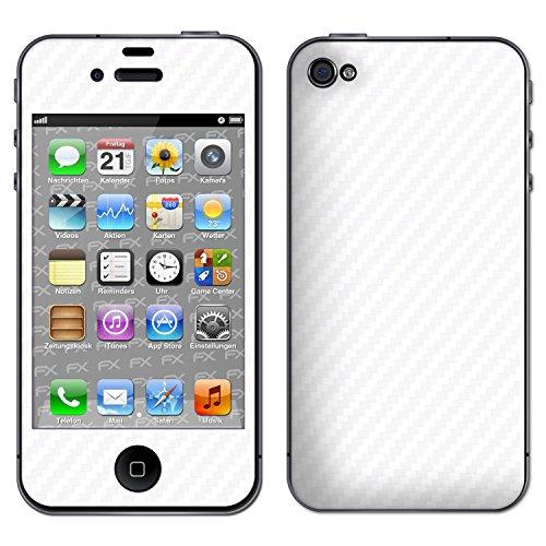 "Skin Apple iPhone 4 / 4s ""FX-Carbon-Black"" Sticker Autocollant FX-Carbon-Alpine"