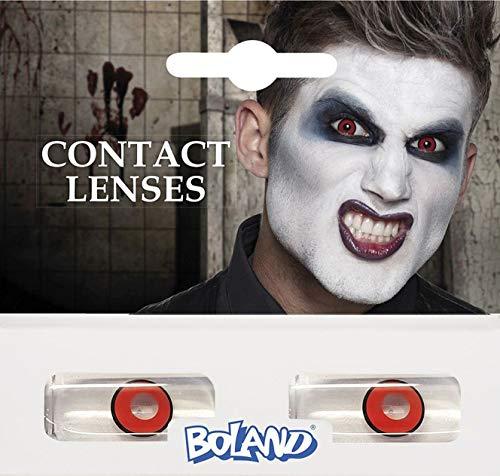 Boland Farbige Kontaktlinsen für 3 Monate, Freak, schwarz, Ohne Sehstärke, Monatslinsen, 2 Stück