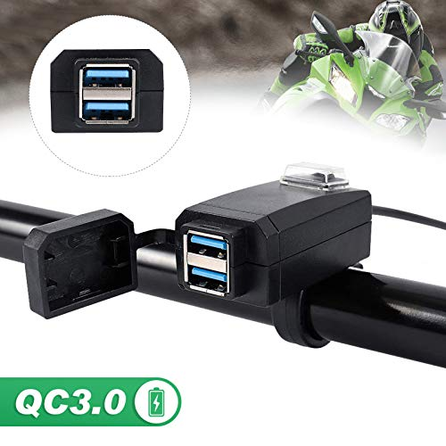 Dual Port USB Telefon Ladebuchse 3.0 Schnellladebuchse Adapter Steckdose für 12V Motorrad - Telefon-ports