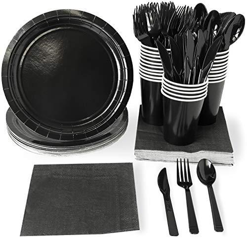 Set di stoviglie usa e getta-24-set Paper tableware-Servizio da tavola per feste per 24persone, tra cui piatti di carta, tovaglioli e bicchieri Scarpette a strappo Voltaic 3 Velcro Fade - Bambini