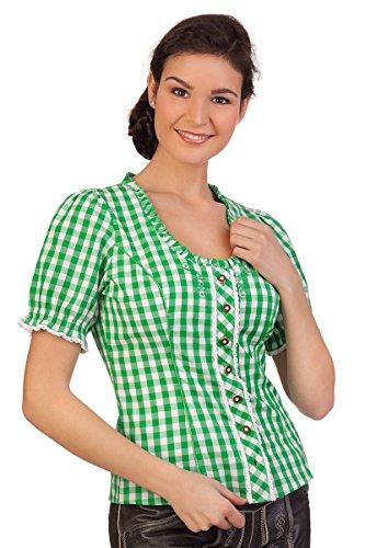 Trachten Bluse - WINKA - blau, grün, Größe 42