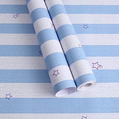 lsaiyy Umweltfreundliche PVC Cartoon Tapete Selbstklebende Dicke wasserdichte Schlafsaal Tapete Kinderzimmer Wandaufkleber Tapete-45CMX10M