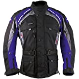 Image of 7832 Roleff Racewear Liverpool Motorcycle Jacket textile, colour: black/blue, size: s Black - Comparsion Tool
