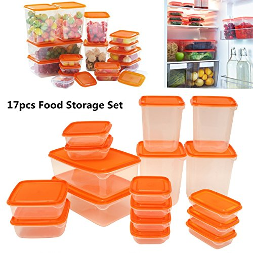 87fa5a0dfbab Janolia Meal Prep Containers, 17 Pcs Food Storage Containers, Lunch Bento  Box Organizer with Lids, Great for Storing Food, Small Tools, Microwave ...