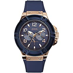 Guess W0247G3 - Reloj de pulsera para hombre, color azul