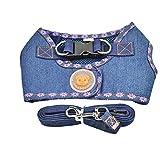 iYoungiYoung Katzen & Hunde Universal Pet Harness Jeans Zugseil Leine Cat Traction Set Hundeleine