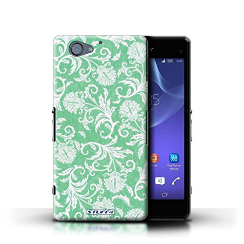 Kobalt® Imprimé Etui / Coque pour Sony Xperia A2 / Fond Vert conception / Série Fleurs Fond Vert