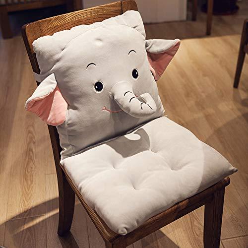 MSM Lovely Acolchado del Asiento, Espesar Antideslizante Dibujos Animados Desmontable Cojín Silla para Inicio Sofá Tatami Oficina-Elefante 40x80cm