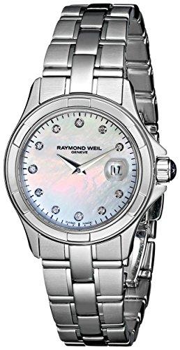 Raymond Weil Reloj de mujer cuarzo 28mm correa de acero 9460-ST-97081