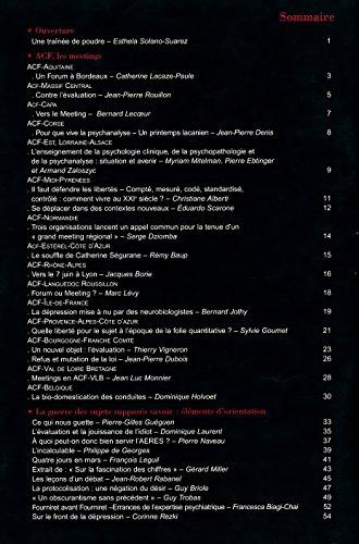 Lettre mensuelle , Numro spcial , Avril 2008 : Les meetings - Sommaire dans l'image - Textes de Pierre-Gilles Guguen, Dominique Laurent, Pierre Naveau, Philippe de Georges, Franois Leguil, Guy Briole ...