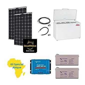 Kit solaire spécial afrique 520w réfrigérateur congélateur steca 240l