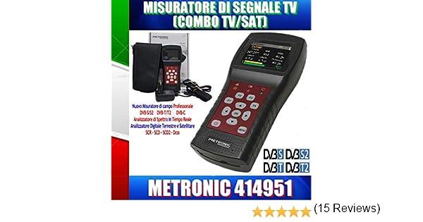 metronic misuratore di campo  Metronic MISURATORE DI CAMPO TV/SAT (T2+S2) con SPETTRO/SCR/DCSS ...