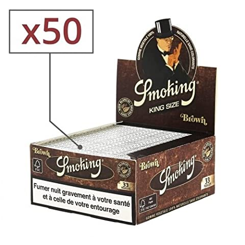 papier à rouler smoking slim brown x50