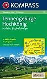 Tennengebirge, Hochkönig, Hallein, Bischofshofen: Wandern / Rad / Skitouren. GPS-genau. 1:50.000