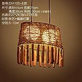 (Furonghuang) Sepia Industrial Wind Rustikale Thema Bar Kreative Restaurant Internet Cafe Shops Milch Tee Lounge Deck Kronleuchtern, Dm 105-E) Lichtquelle (Kein Licht)