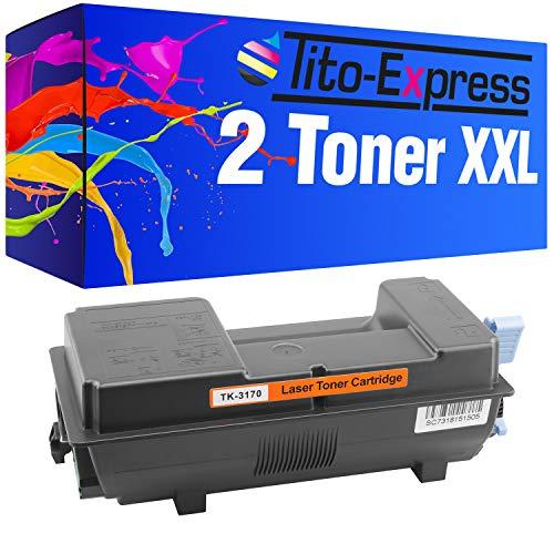 Preisvergleich Produktbild PlatinumSerie® 2X Toner XXL kompatibel für Kyocera TK-3170 Ecosys P3060dn P3055dn P3050dn P 3060 3055 3050 DN P3060 P3055 P3050 DN P 3060dn 3055dn 3050dn