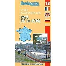 Carte guide navigation fluviale - Les rivières des Pays de la Loire : Bassin de la Maine, la Loire, l'Erdre le canal de Nantes à Brest (de Redon à Quiheix)