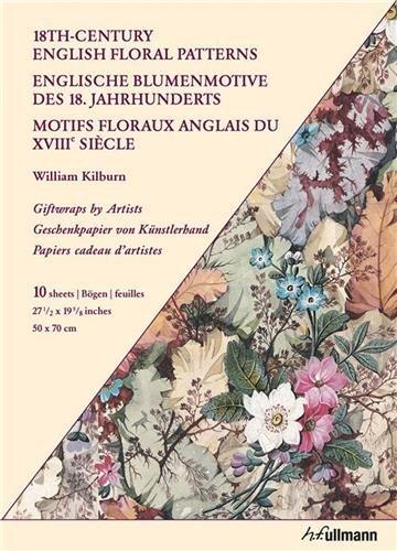 Preisvergleich Produktbild Englische Blumenmotive des 18. Jahrhunderts: Geschenkpapiere von Künstlerhand (Giftwraps by Artists)