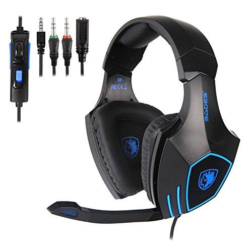 SADES SA819 Gaming headsets Cuffie Gaming per PC, Xbox One e PS4, Cuffie da Gioco Stereo con Microfono