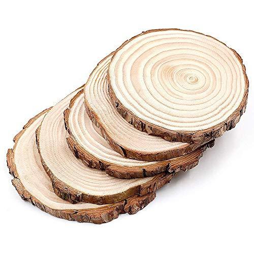 Rodajas corte redondo madera natural 12-14cm decoración