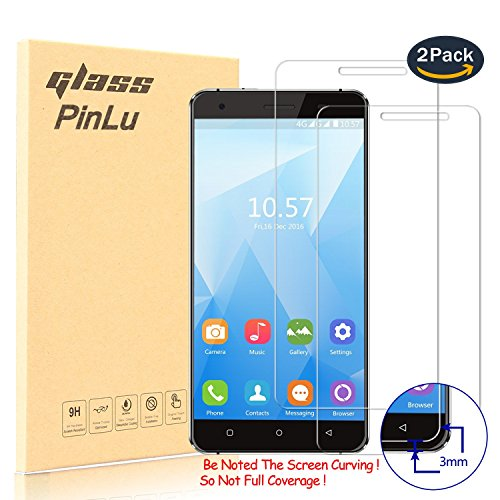 [2 Stück] pinlu® Panzerglas Bildschirmschutzfolie für Oukitel C5 / C5 pro Transparent Glasfolie Protector 9H Härtegrad Schutzglas,99% Transparenz,Einfaches Anbringen,3D Touch Kompatibel