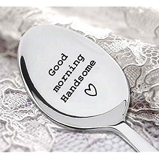 L?ffel???Good Morning Handsome L?ffel???Besteck L?ffel???Geschenk f?r ihn???Boyfriend Geschenke???Gravur Kaffee L?ffel
