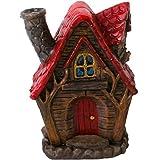 Inciensario en forma de casa de hadas con chimenea, para el incienso