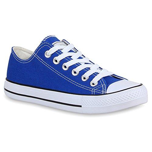 Stiefelparadies Damen Sneakers Turn Freizeit Low Sneaker Übergrößen Prints Glitzer Denim Schuhe 24760 Blau Ambler 41 Flandell (Sneaker-print-schuhe)