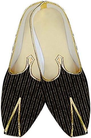 INMONARCH Hombres Boda Zapatos Negro Forro Impreso MJ010560