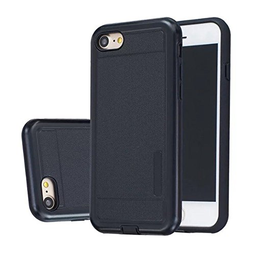 JIALUN-Telefon Fall Solid Color Shock Back Cover Telefon Fall für Apple IPhone 7 4,7 Zoll ( Color : Black , Size : IPhone 7 4.7 Inch ) Black