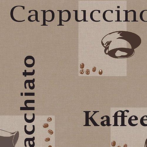Wachstuch d-c-fix Kaffee Cappuccino Espresso RUND OVAL ECKIG Größe & Farbe wählbar Beige 140 x...