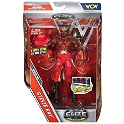WWE serie Elite 46 Action Figure - Stevie Ray - WCW Harlem Heat Abito