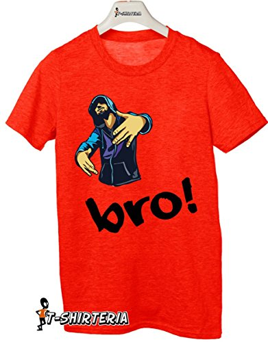 t-shirt Fratello e sorella humor  Bro (brother) Hip Hop- rap- maglietta by tshirteria rosso