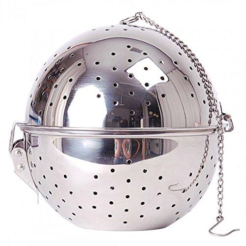 Boule de riz en acier inoxydable - lavable au lave-vaisselle - 14 cm Ø